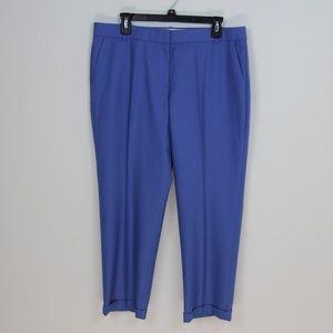 J. Crew. Blue Wool Cafe Capri Pants